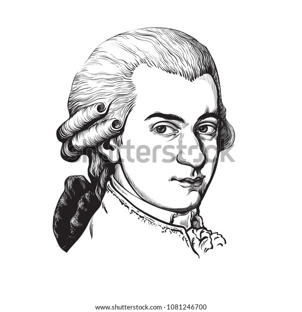 Wolfgang Amadeus Mozart Great Composer Musician Stock ...