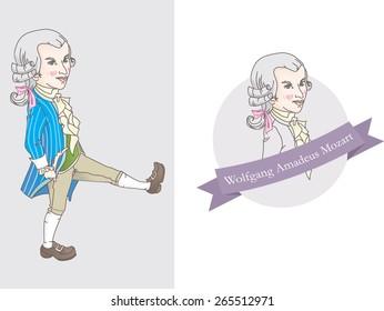 Wolfgang Amadeus Mozart, Vector