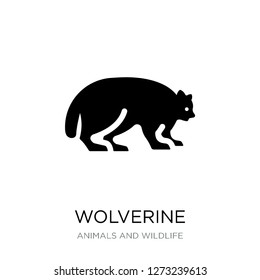 wolverine icon vector on white background, wolverine trendy filled icons from Animals and wildlife collection, wolverine simple element illustration