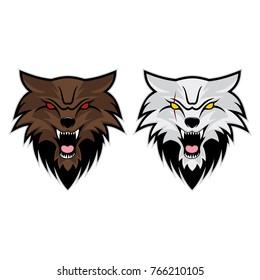 Wolves Head Vector