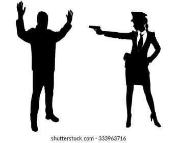 woman aiming