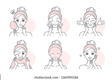woman apply facial mask to treat acne