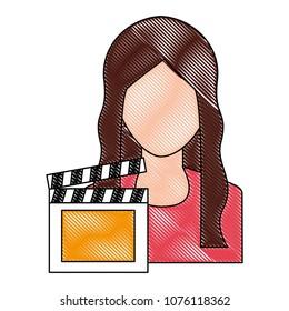 clapboard girl stock illustrations images vectors shutterstock