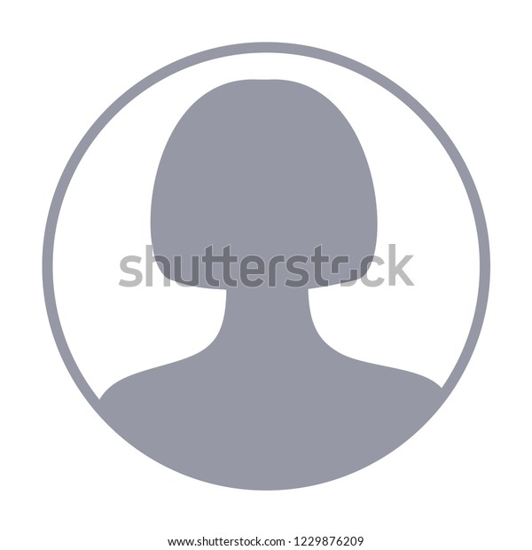 Woman Avatar Default Anonymous User Picture Stock Vector