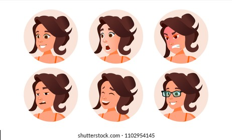 Woman Avatar People Vector. Default Placeholder. Strong Pictogram. Flat Character Illustration