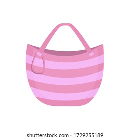 Woman bag icon fashion handbag isolated on white background. Women's summer accessory.