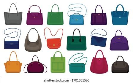 Woman bag isolated cartoon set icon. Vector illustration handbag on white background. Vector cartoon set icon woman bag.