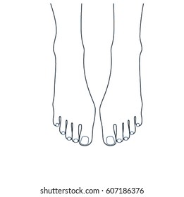 Feet Drawing Images Stock Photos Vectors Shutterstock