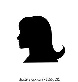 woman with black hair. beautiful girl.