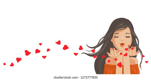 Blowing Kiss Images, Stock Photos & Vectors | Shutterstock