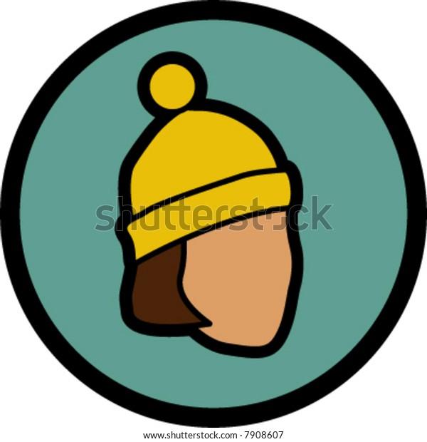 woman in bobble hat