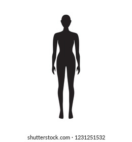 Woman body silhouette vector art.