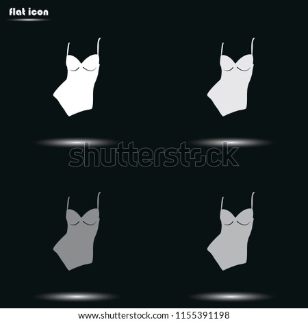Woman Bodysuit Flat Grayscale Vector Icon Stock Vector (Royalty Free ... 1988a9002