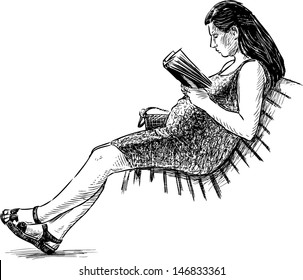 1000 Woman Reading Book Draw Stock Images Photos Vectors