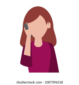 Woman calling by cellphone