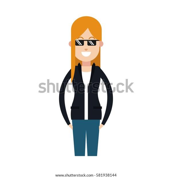 woman cartoon icon