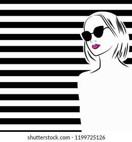 Creative Woman Vector Fashion Vectorielle Image Flat Stock De Quote 1RBw7HzcU