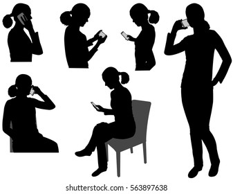phone silhouette images stock photos vectors shutterstock