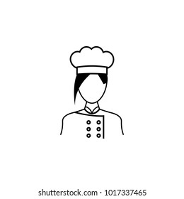 woman cook icon. Avatar element of professions for mobile concept and web apps. Thin line  icon for website design and development, app development. Premium icon on white background