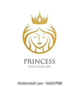 woman with crown line logo