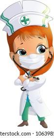 Woman Doctor cartoon