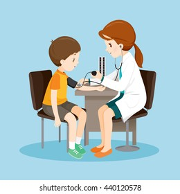 Woman Doctor And Patient Blood Pressure Measuring, Medical, Physician, Hospital, Checkup, Healthy, Treatment, Personnel