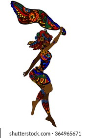 woman in ethnic style dancing a religious dance