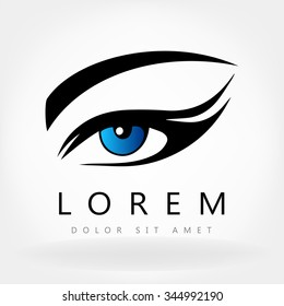 Woman eye logo