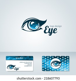 Woman eye vector logo design. Cosmetics, beauty and ophthalmology themes. Creative icon. Business card template.