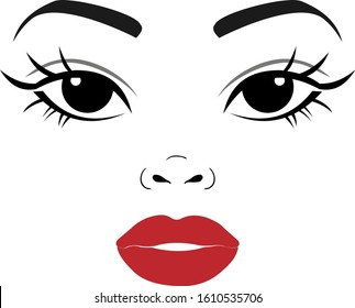 woman face beuty afro girl vector illustration