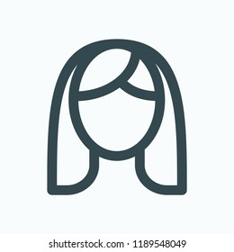 Woman face icon. Facial care vector icon