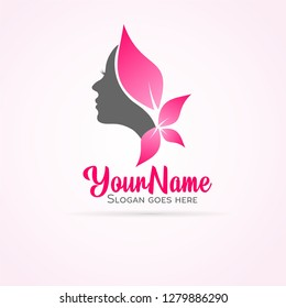 woman face logo vector 2