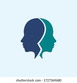 woman face silhouette character illustration. beauty logo icon vector