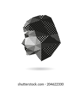 Woman face silhouette, vector illustration