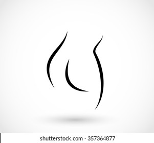 Woman fit bottom illustration vector