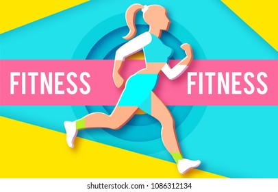 woman fitness poster template sport motivation stock vector royalty
