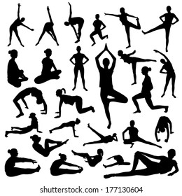 Woman fitness silhouette