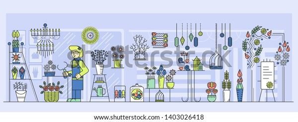 Vector De Stock Libre De Regalías Sobre Jardinera O