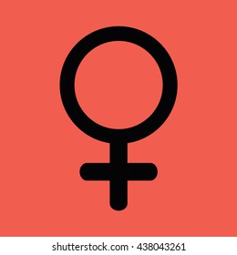 Woman gender pictogram vector icon