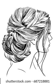 Woman with Glamor Wedding Hairstyle
