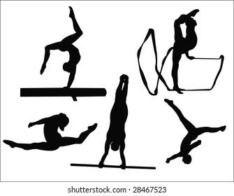 woman gymnastics silhouette
