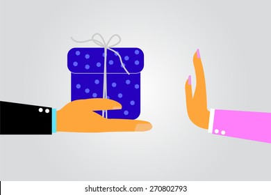 woman Hand - Refuses Gift From Other Hand
