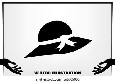 woman hat icon vector illustration.