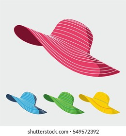 woman hat illustration vector design