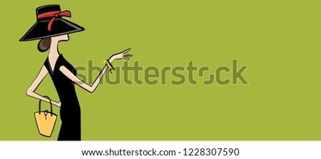 Woman with hat with