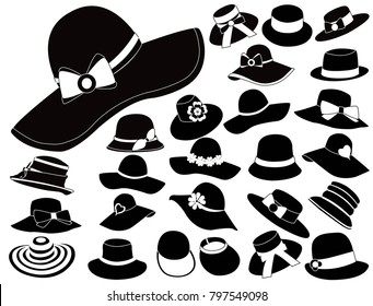 woman hats vector