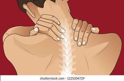 Woman having pain in her back
