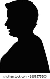 a woman head silhouette vector