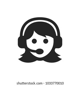Woman with headset icon