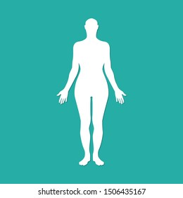 Woman human body silhouette. Vector illustration eps10